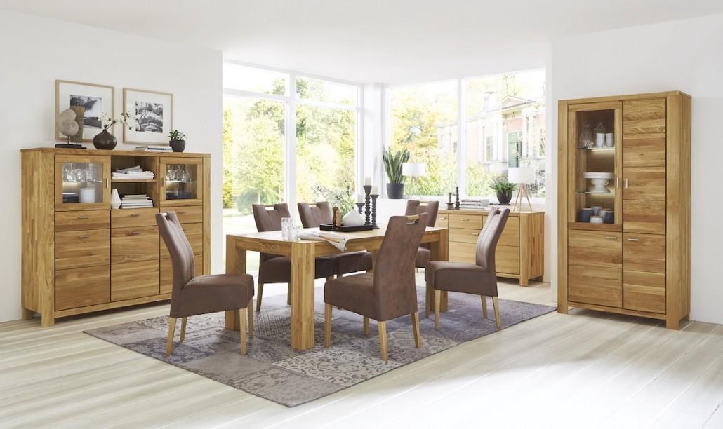 esszimmer-moebel-set-esstisch-stuehle-holz-leder-schrank-vitrine
