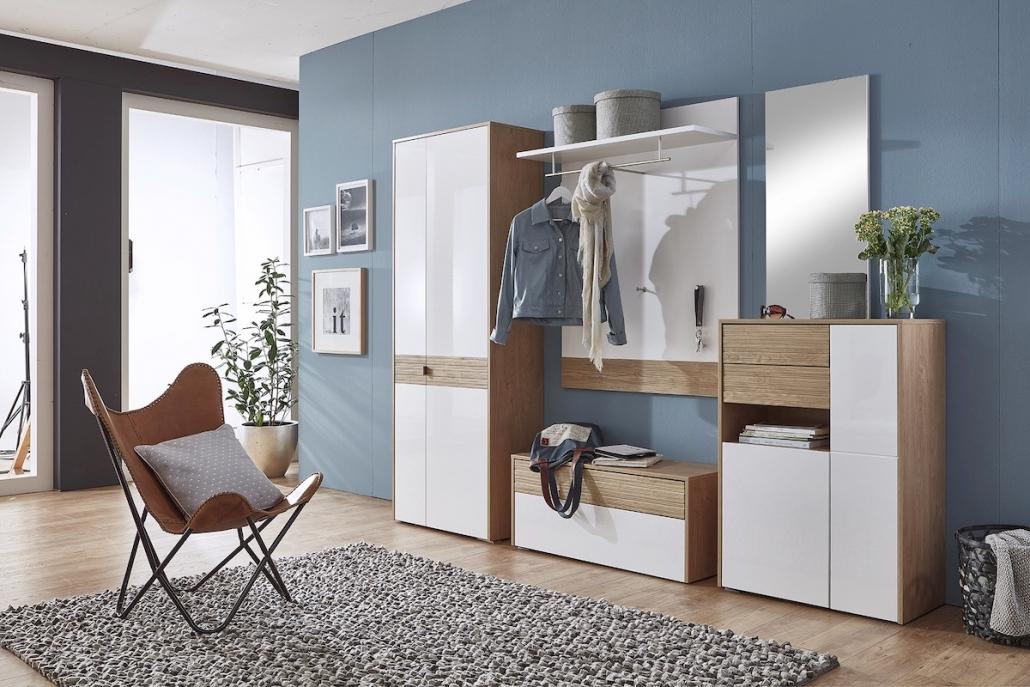 flur-diele-moebel-garderobe-regal-spiegel-bank