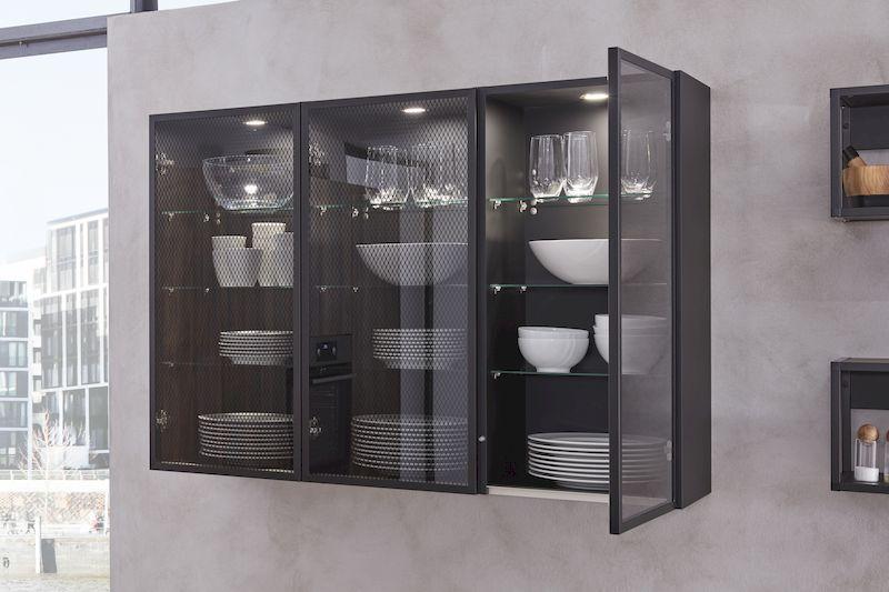WERT-Küche-Hängeschrank-dunkelgrau-glastüren