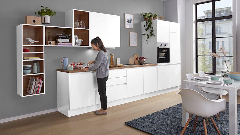 WERT-Küche-weiß-holz-küchenzeile-hochschrank-hängeschrank